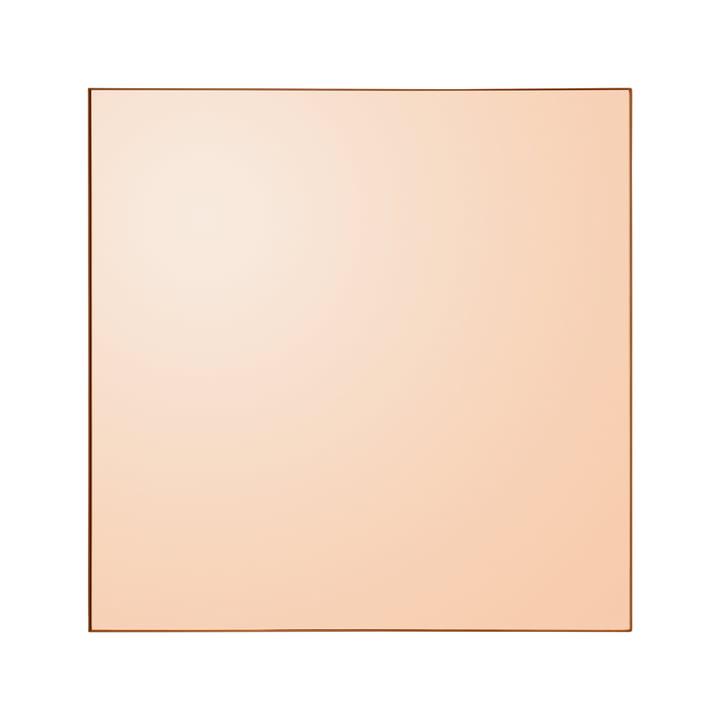 Quadro wall mirror, 90 x 90 cm in amber from AYTM