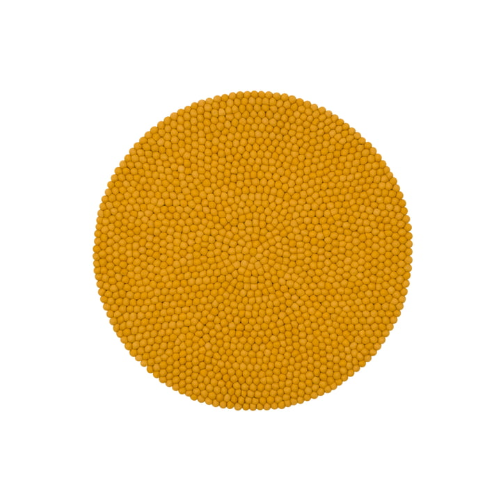 Klara felt ball carpet, Ø 90 cm by myfelt