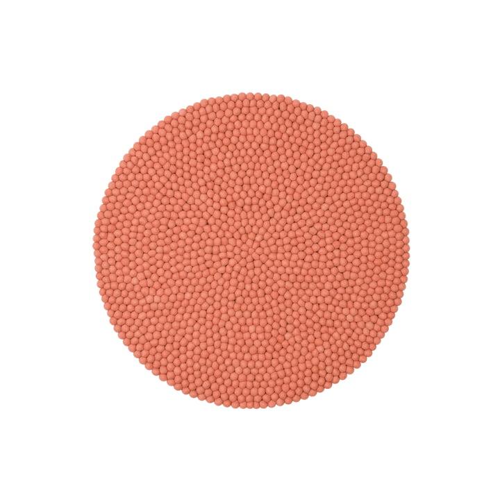 Lea felt ball carpet, Ø 90 cm by myfelt