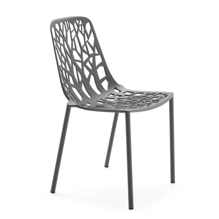 Forest Stacking chair ( Outdoor ) from Fast in grey metallic