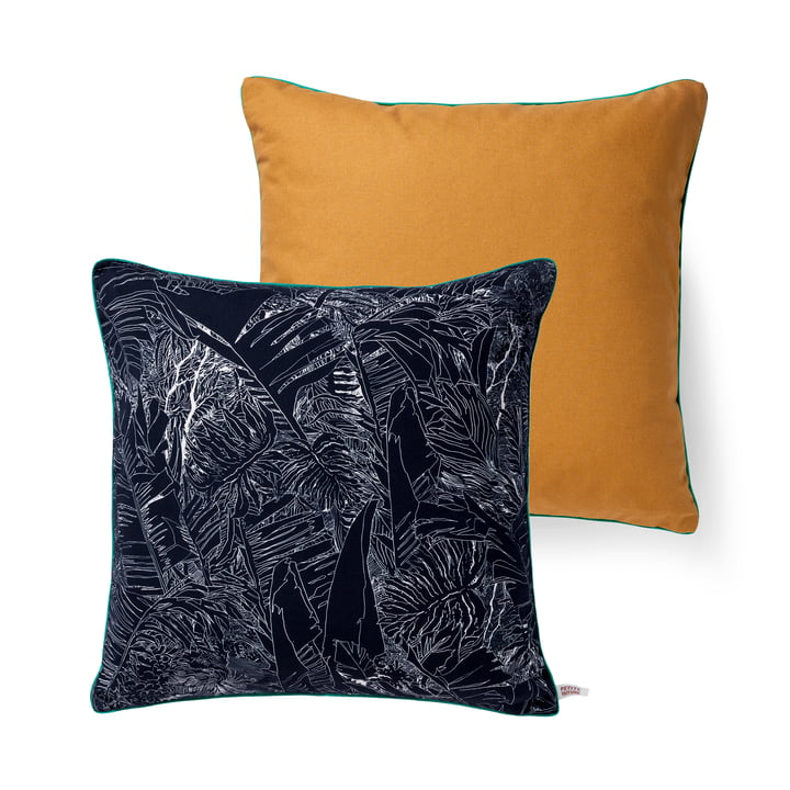 Jungle pillow by Petite Friture, 50 x 50 cm in black / white