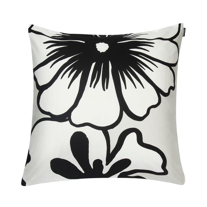 Eläköön Elämä cushion cover 50 x 50 cm, white / black by Marimekko