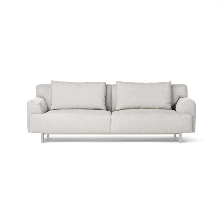 Plenty 3-seater sofa from Million in silk grey (RAL 7044) / light grey (Maple 112)