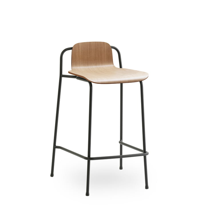 Studio bar stool 65 cm by Normann Copenhagen in black / oak