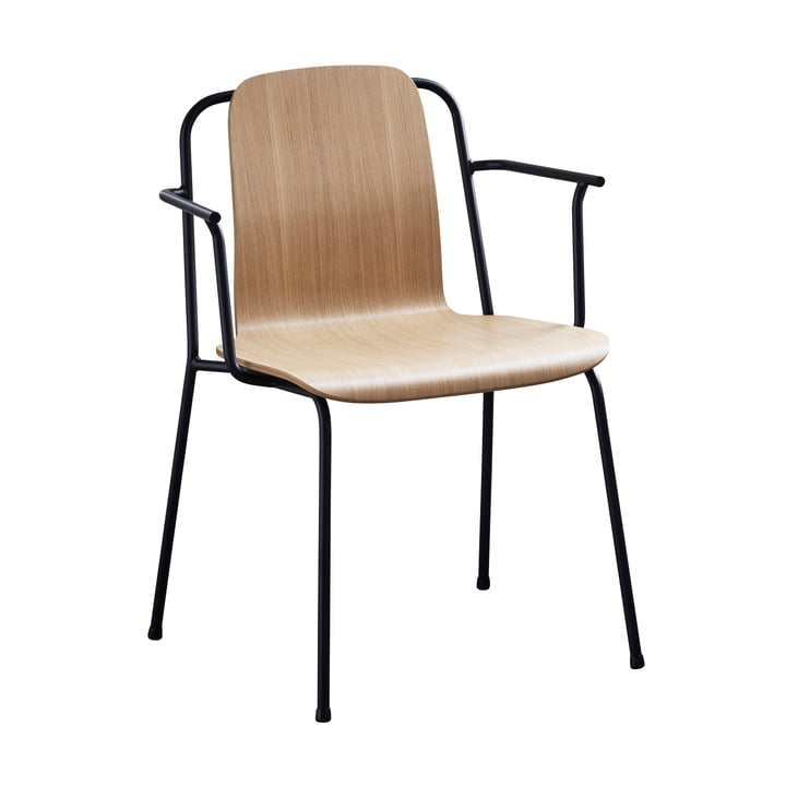 Studio Armchair by Normann Copenhagen in black / oak