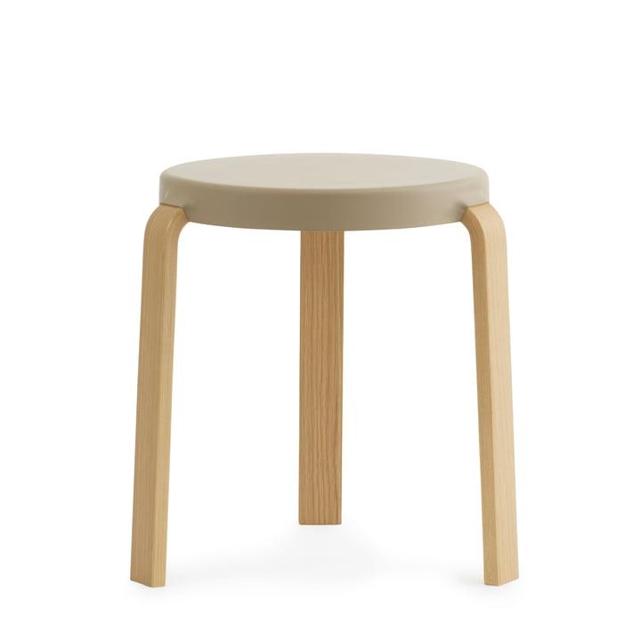 Tap stool by Normann Copenhagen in oak / sand