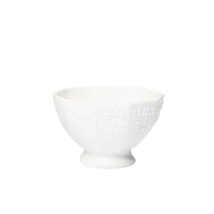 Braille bowls large by Petite Friture Ø 15 x H 9. 5 cm in cream