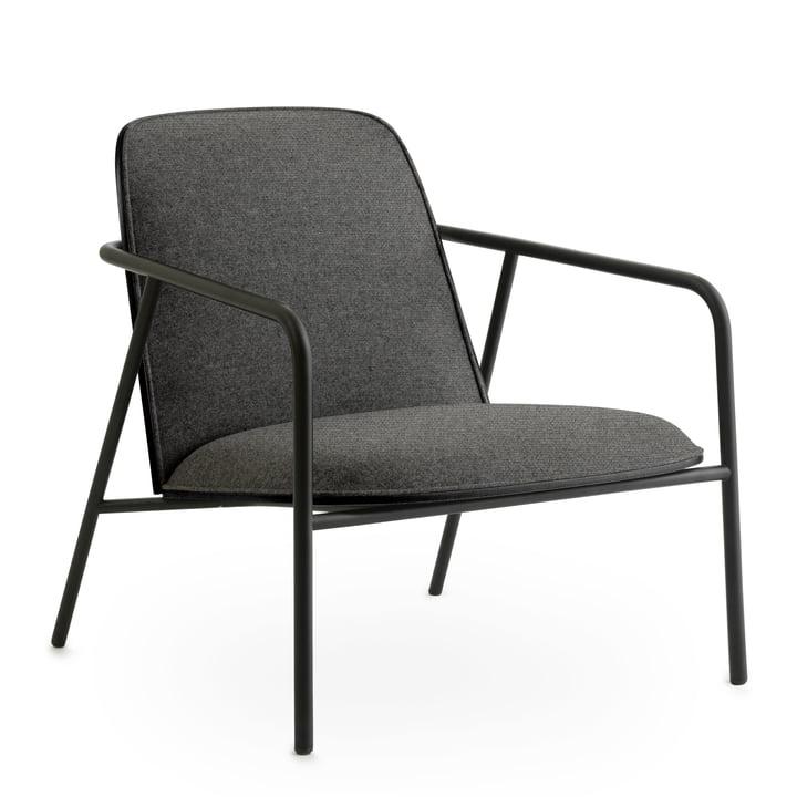 Pad Lounge Chair low by Normann Copenhagen in black / Oak black / Main Line Flax 26