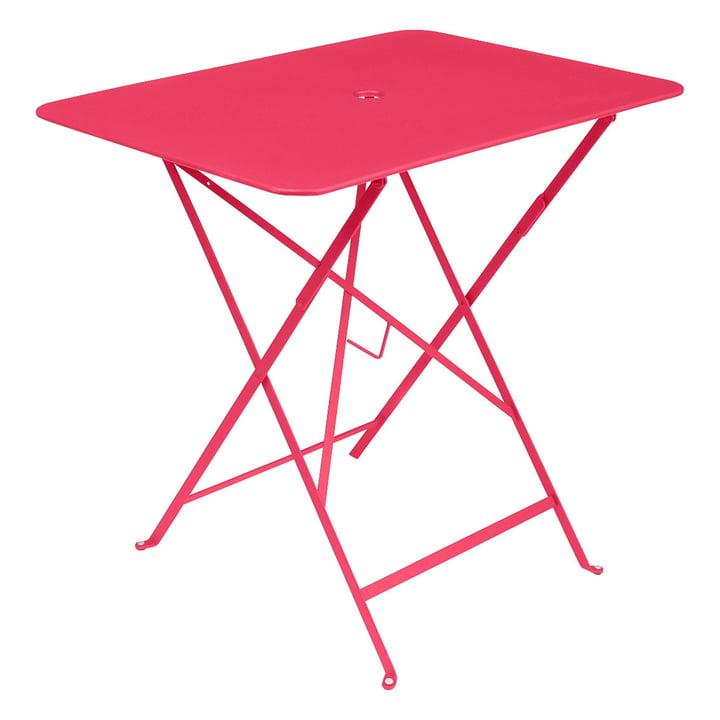 Bistro Folding table rectangular 77 x 57 cm from Fermob in rose praline