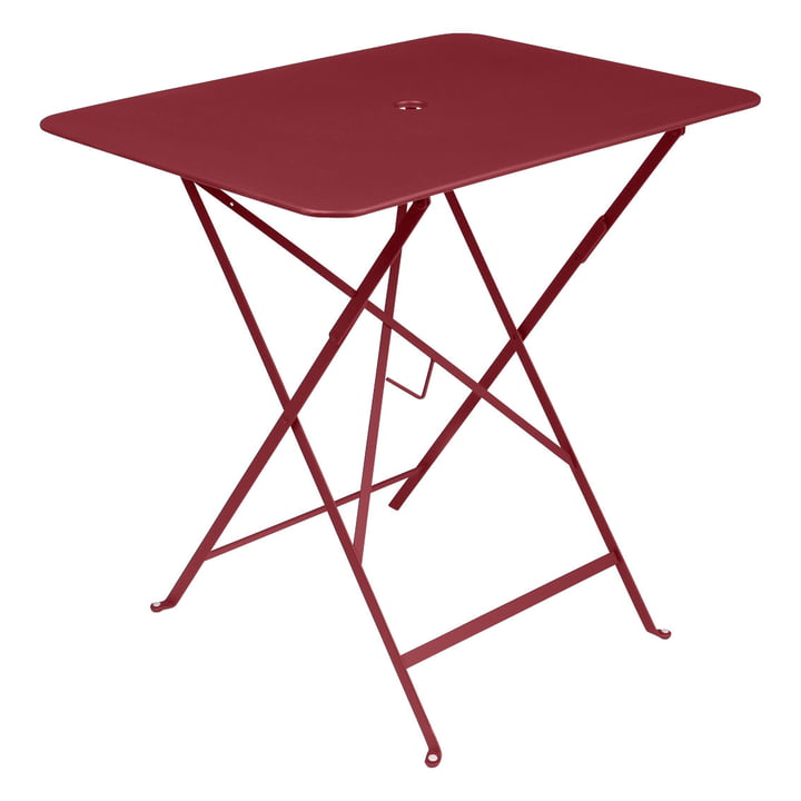 Bistro Folding table rectangular 77 x 57 cm from Fermob in chili