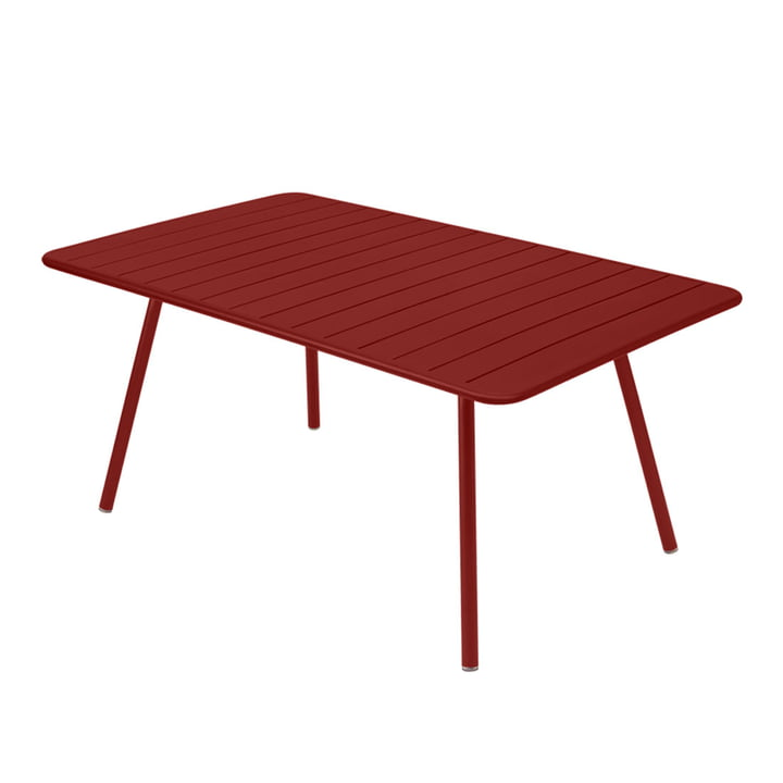 Luxembourg Table rectangular 165 x 100 cm by Fermob in ochre red