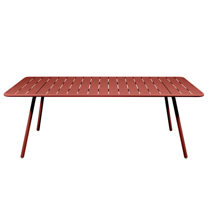 Luxembourg Table rectangular 100 x 207 cm by Fermob in ochre red