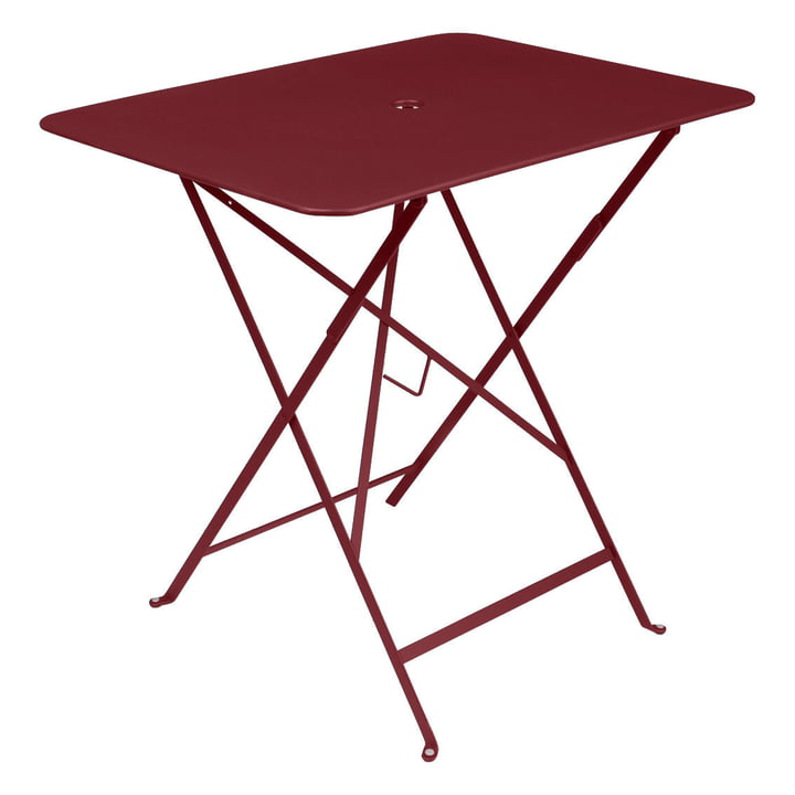 Bistro Folding table rectangular 77 x 57 cm from Fermob in ochre