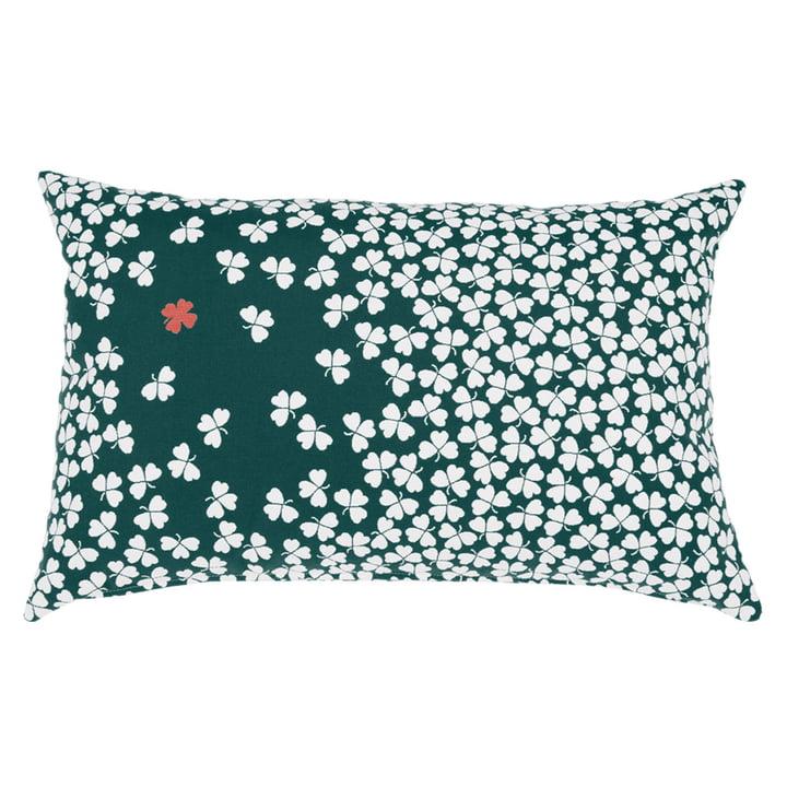 Trèfle outdoor cushion 68 x 44 cm by Fermob in cedar green