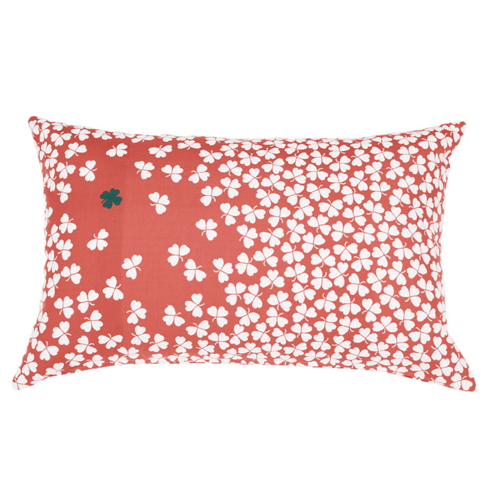 Trèfle outdoor cushion 68 x 44 cm by Fermob in capucine