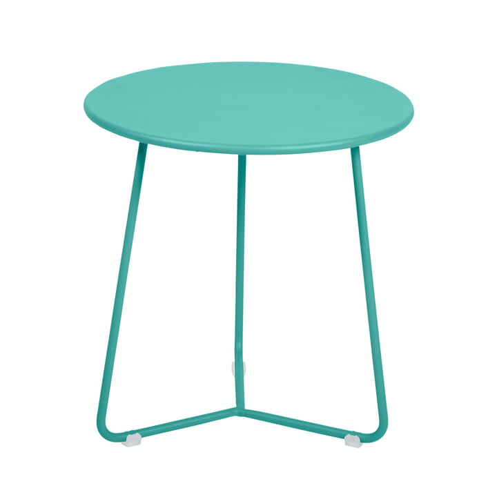 Cocotte Side table / stool Ø 34 cm x H 36 cm from Fermob in lagoon blue