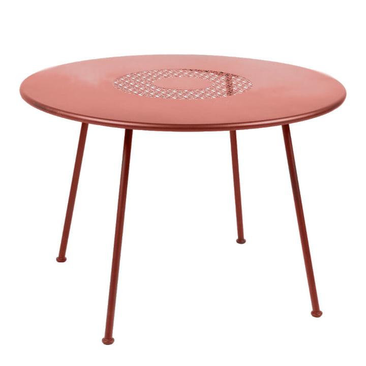 Lorette table Ø 110 cm by Fermob in ocher red