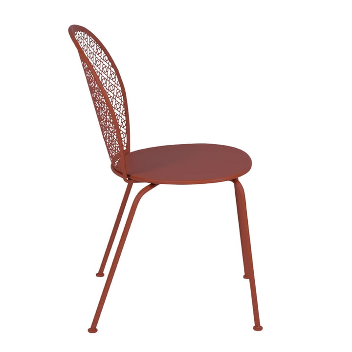 Lorette chair from Fermob in ochre red