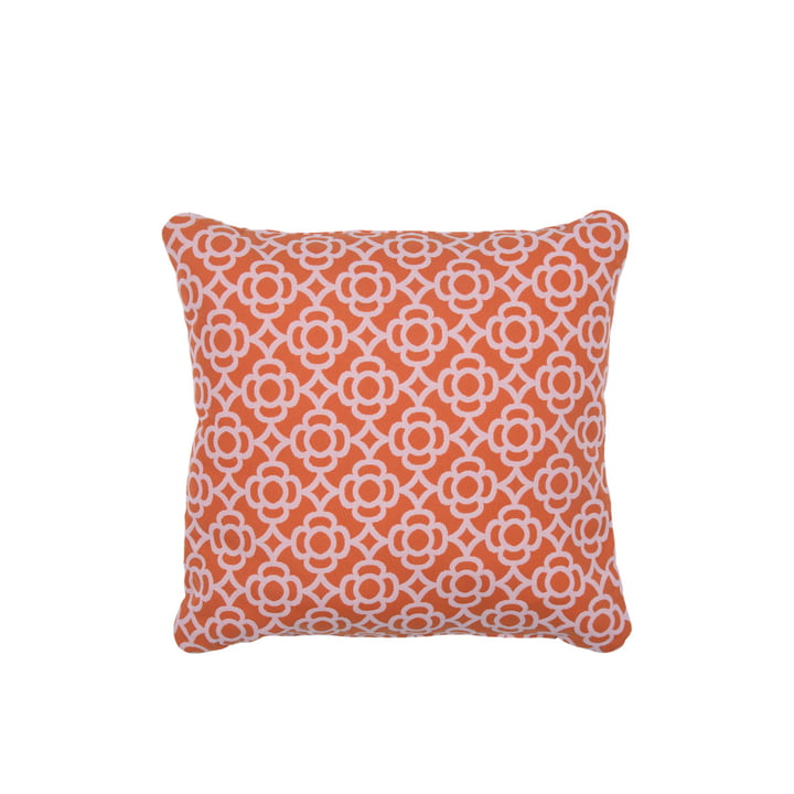 Lorette outdoor cushion 44 x 44 cm by Fermob in carrot