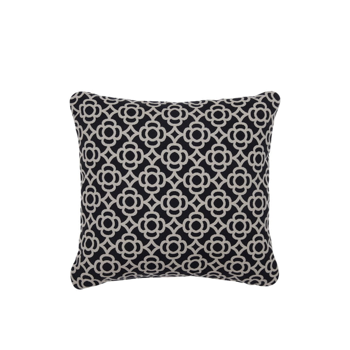 Lorette Outdoor cushion 44 x 44 cm by Fermob in liquorice