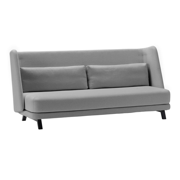 Jason sofa bed by Softline in ash black / Vision light grey (445)