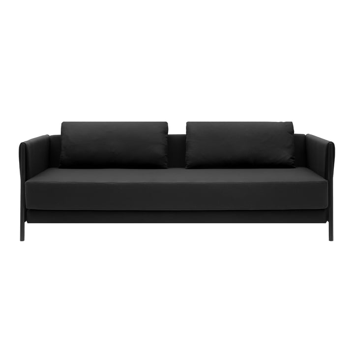Madison sofa bed by Softline in black / felt melange anthracite (610)