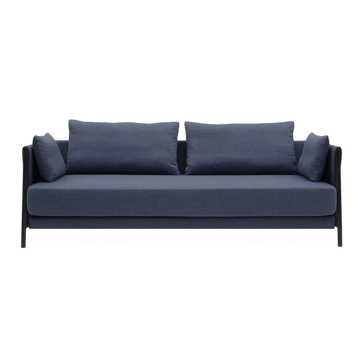 Madison Sofa bed from Softline in black / Vision dark blue (441)