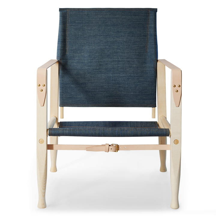 KK47000 Safari Chair by Carl Hansen in oiled ash / natural leather / denim (Limited Edition)