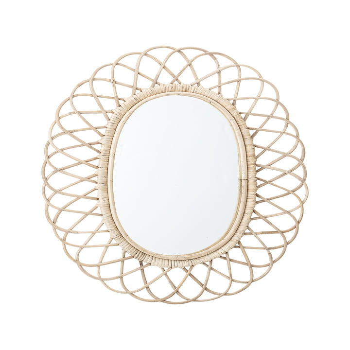 Mirror braided by Bloomingville, L 49 x H 53 cm