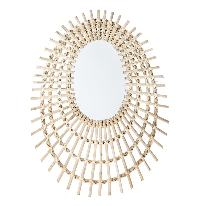 Mirror braided by Bloomingville, L 48 x H 64 cm