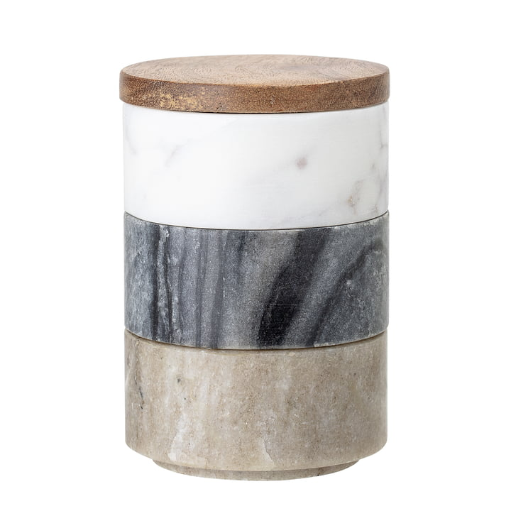 Marble storage boxes 3 pcs of Bloomingville in multi-color