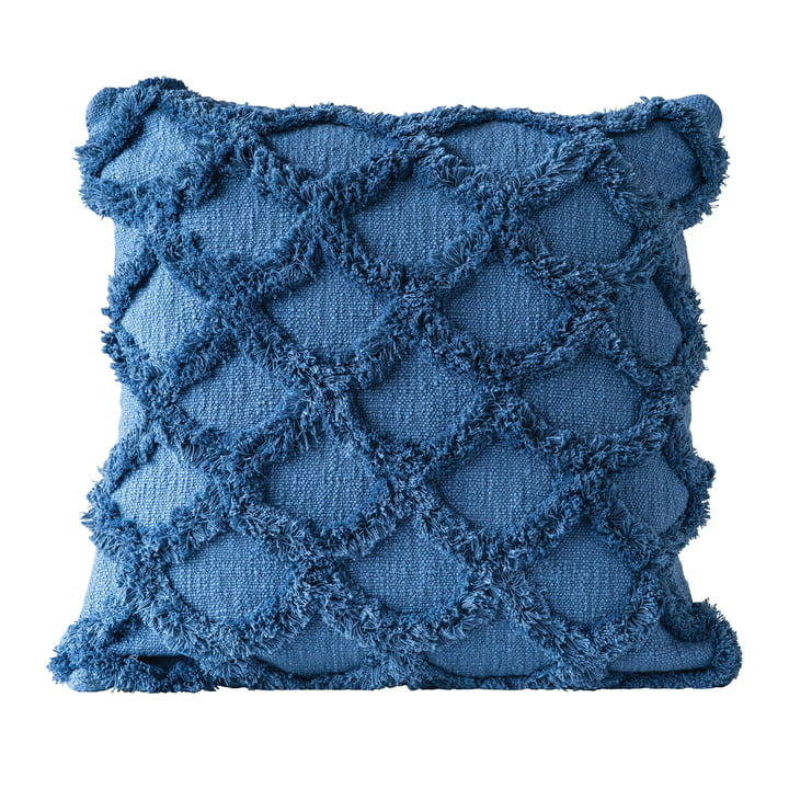 Gathering cushion from Bloomingville, L 45 x W 45 cm in blue