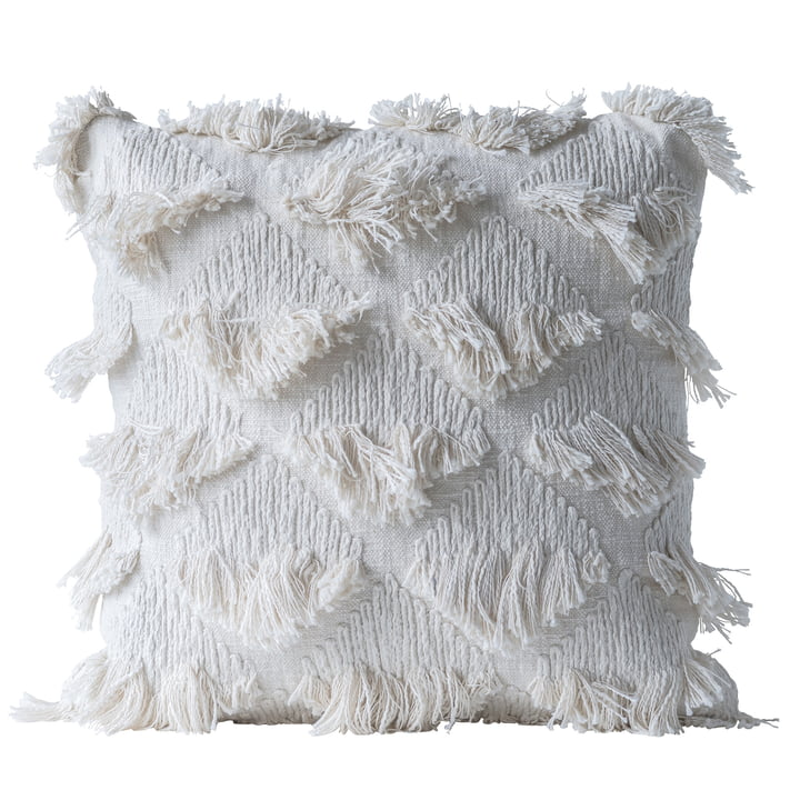 Collected cushion from Bloomingville, L 55 x W 55 cm in white