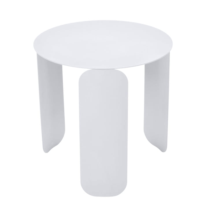 Bebop side table Ø 45 cm by Fermob in cotton white