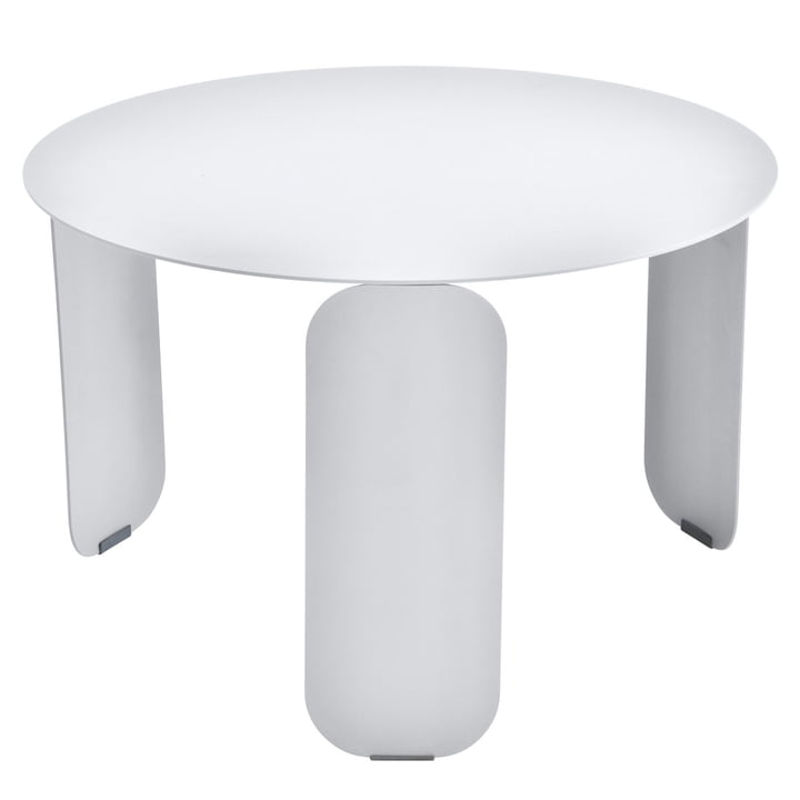 Bebop side table Ø 60 cm by Fermob in cotton white