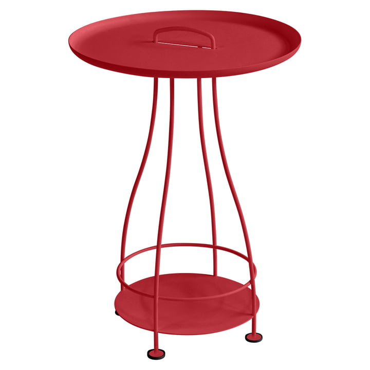 Happy Hours side table from Fermob in poppy red