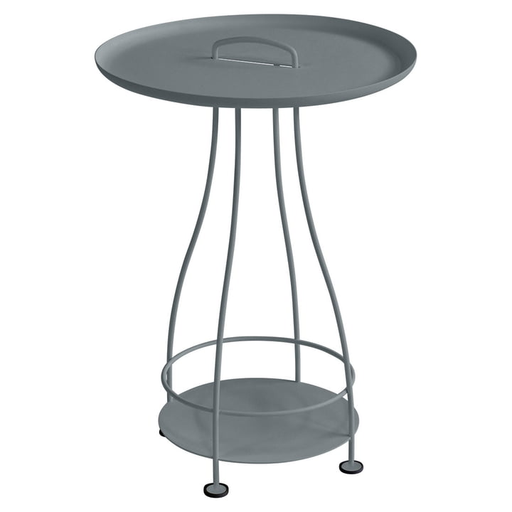 Happy Hours side table by Fermob in storm gray