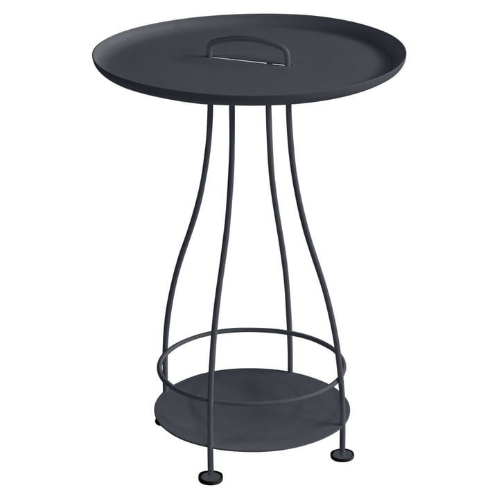 Happy Hours side table by Fermob in anthracite