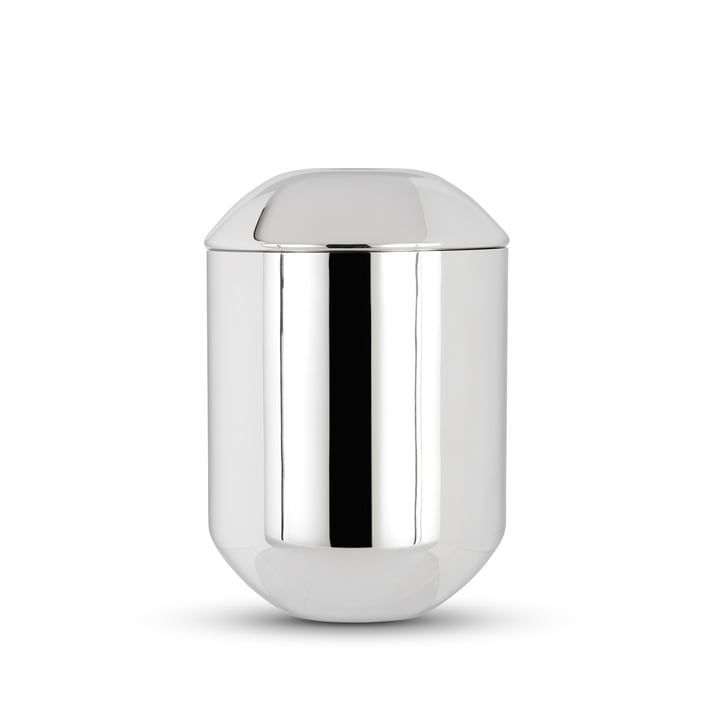 Form tea tin by Tom Dixon made of stainless steel