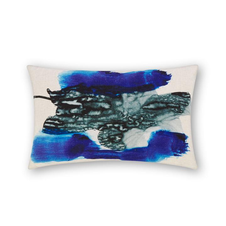 Blot cushion by Tom Dixon, 40 x 60 cm in blue multi
