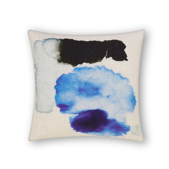 Blot cushion by Tom Dixon, 45 x 45 cm in blue multi
