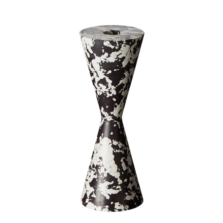 Swirl Cone candle holder by Tom Dixon in black / white