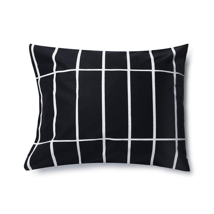 Tiiliskivi pillowcase by Marimekko, 50 x 60 cm in black / white