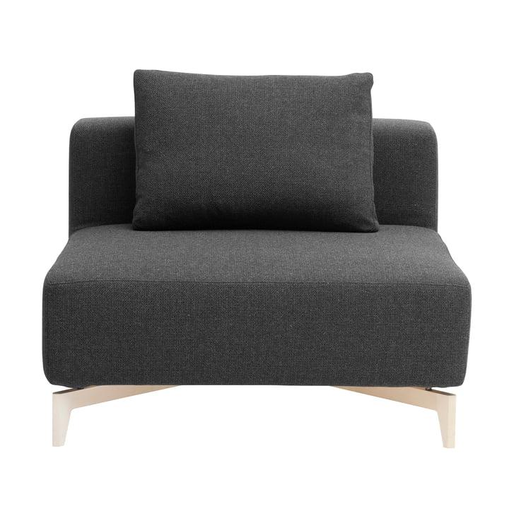 Passion modular sofa, single element, vision dark grey (439) by Softline