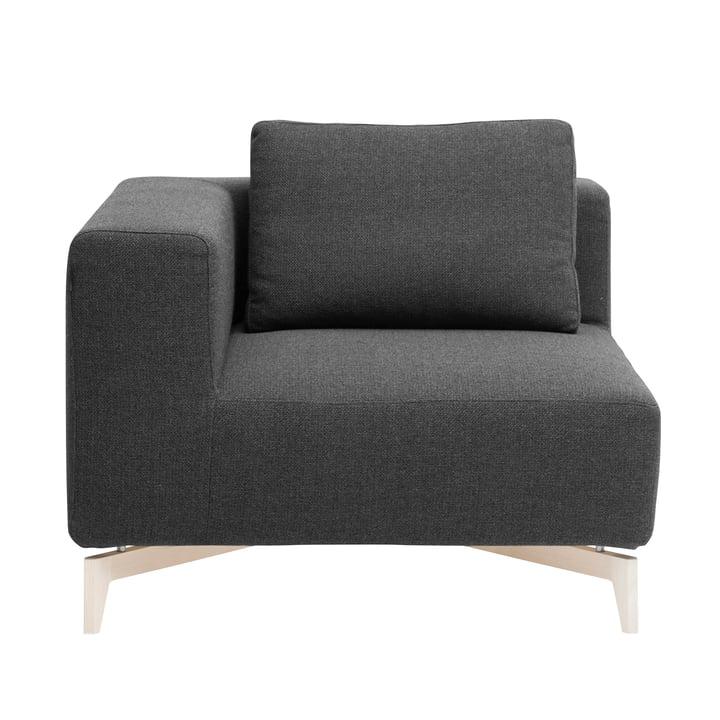 Passion modular sofa, corner element, ash / vision dark grey (439) by Softline
