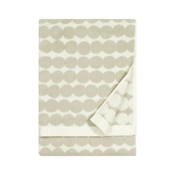 Räsymatto Towel from Marimekko, 50 x 100 cm in white / beige