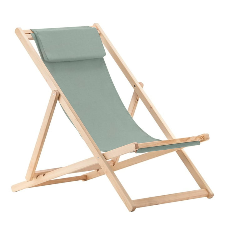 Relax deckchair, Robinia in sage of Fiam