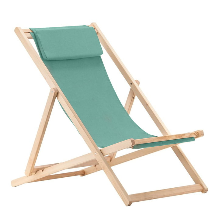 Relax deckchair, Robinia in aqua from Fiam