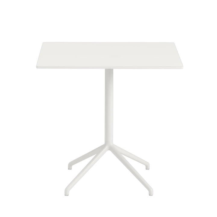 Still Café table H 73 cm, 75 x 65 cm in white by Muuto