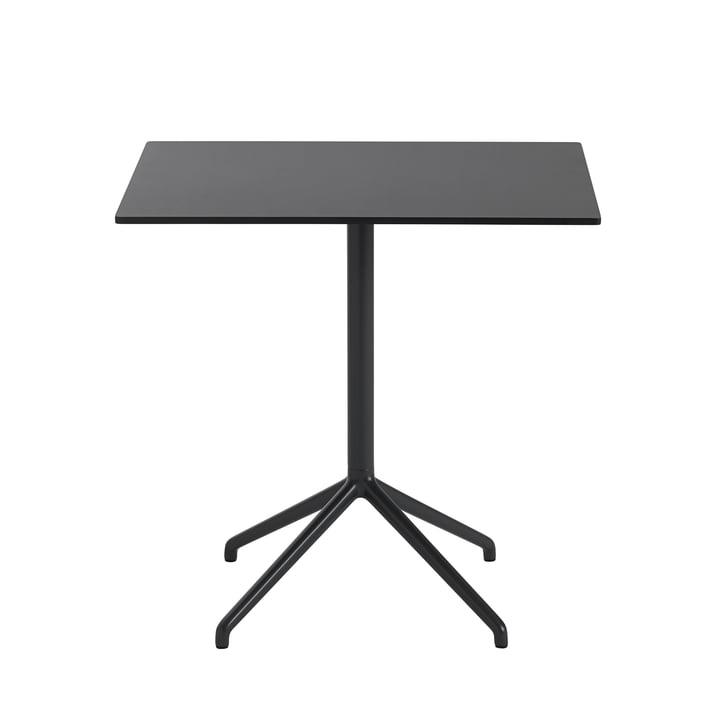 Still Café table H 73 cm, 75 x 65 cm in black by Muuto